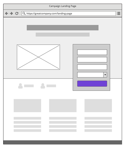 Diseño WireFrame Landing Page